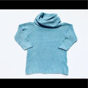 Teal Super Turtleneck Sweater